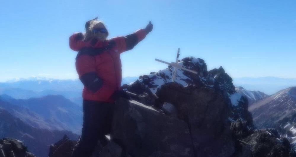 cerro Vallecitos en el Cordón del Plata, Mendoza