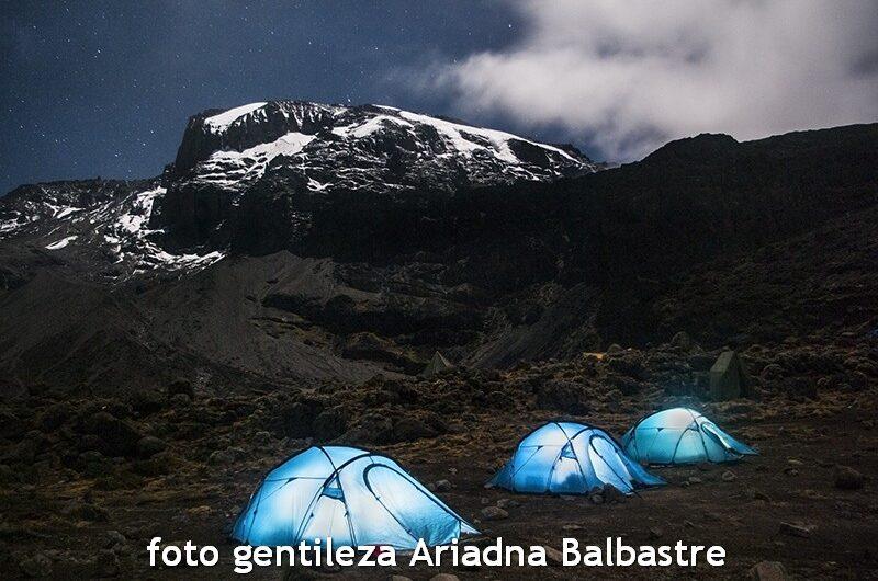 En un campamento del Kilimanjaro