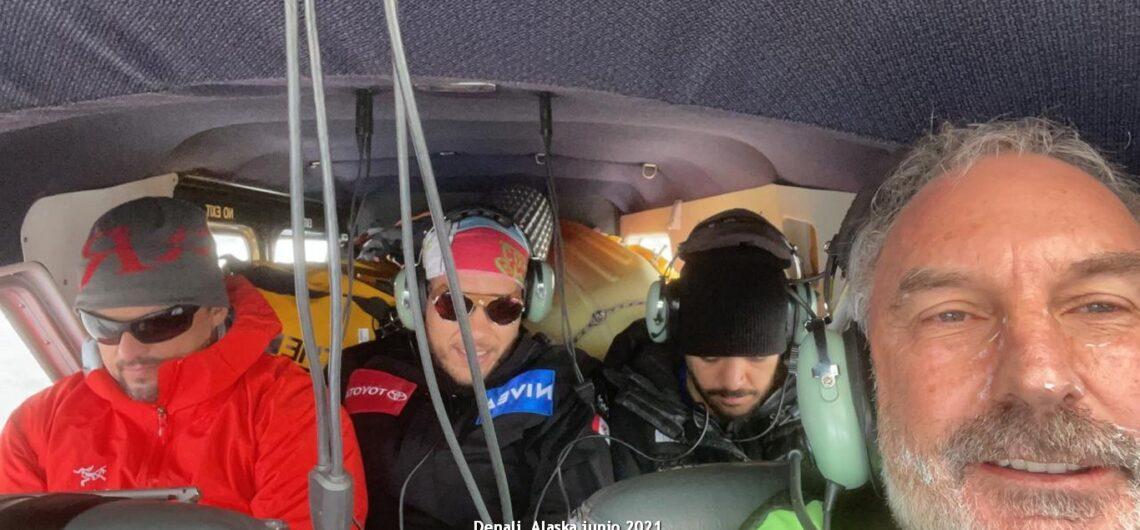 vuelo hacia base Denali