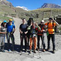 Grupo en Laguna de Horcones expedicion aconcagua